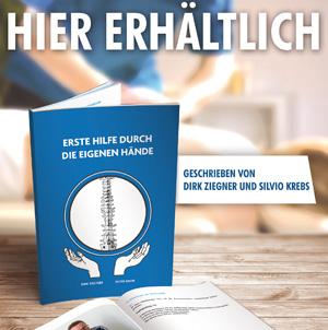 """Buch, """"Erste Hilfe durch die eigenen Hände"""" von Silvio Krebs und Dirk Ziegner"""